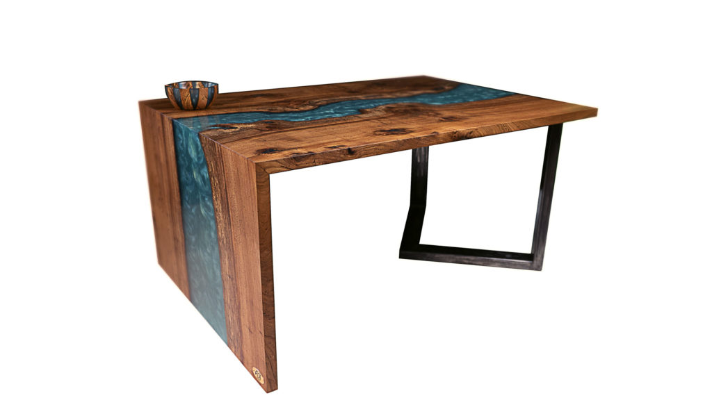 ABT Menuiserie : meubles d'art en bois nobles et résine epoxy à Bordeaux
