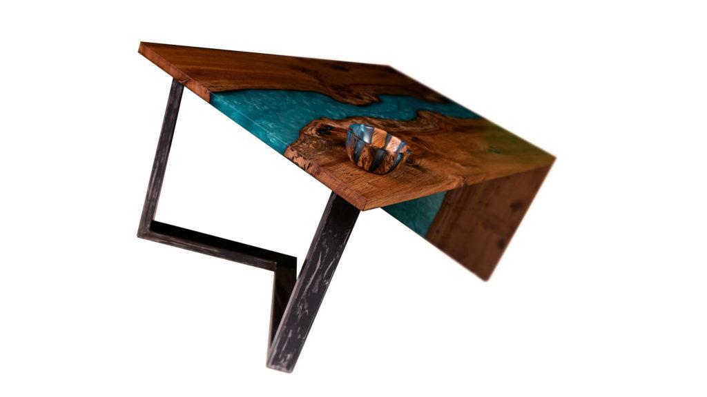 ABT menuiserie fabrique du mobilier sur mesure en bois nobles et résines epoxy à Bordeaux